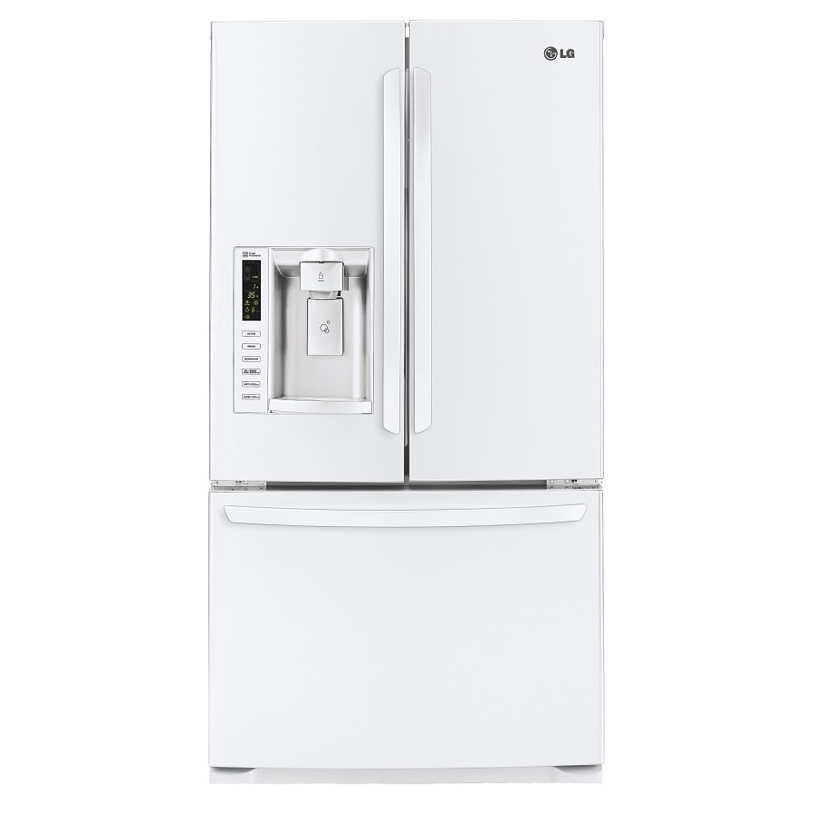 LG 24.7-cu ft French Door Refrigerator with Single Ice Maker (Smooth White)