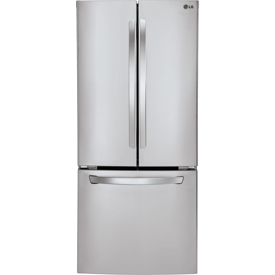 Shop Lg 21 8 Cu Ft French Door Refrigerator With Single