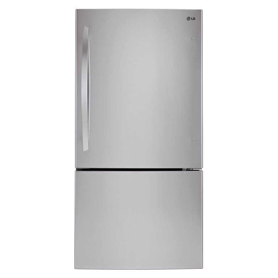 Shop LG 23.8-cu ft Bottom-Freezer Refrigerator with Single ...