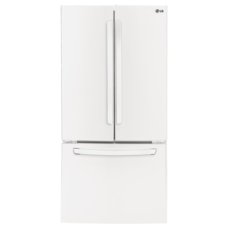 LG 23.6-cu ft French Door Refrigerator with Single Ice Maker (Smooth White) ENERGY STAR
