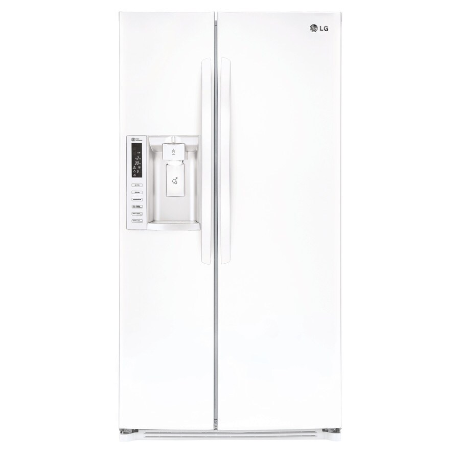 LG 26.2-cu ft Side-by-Side Refrigerator with Single Ice Maker (Smooth White)