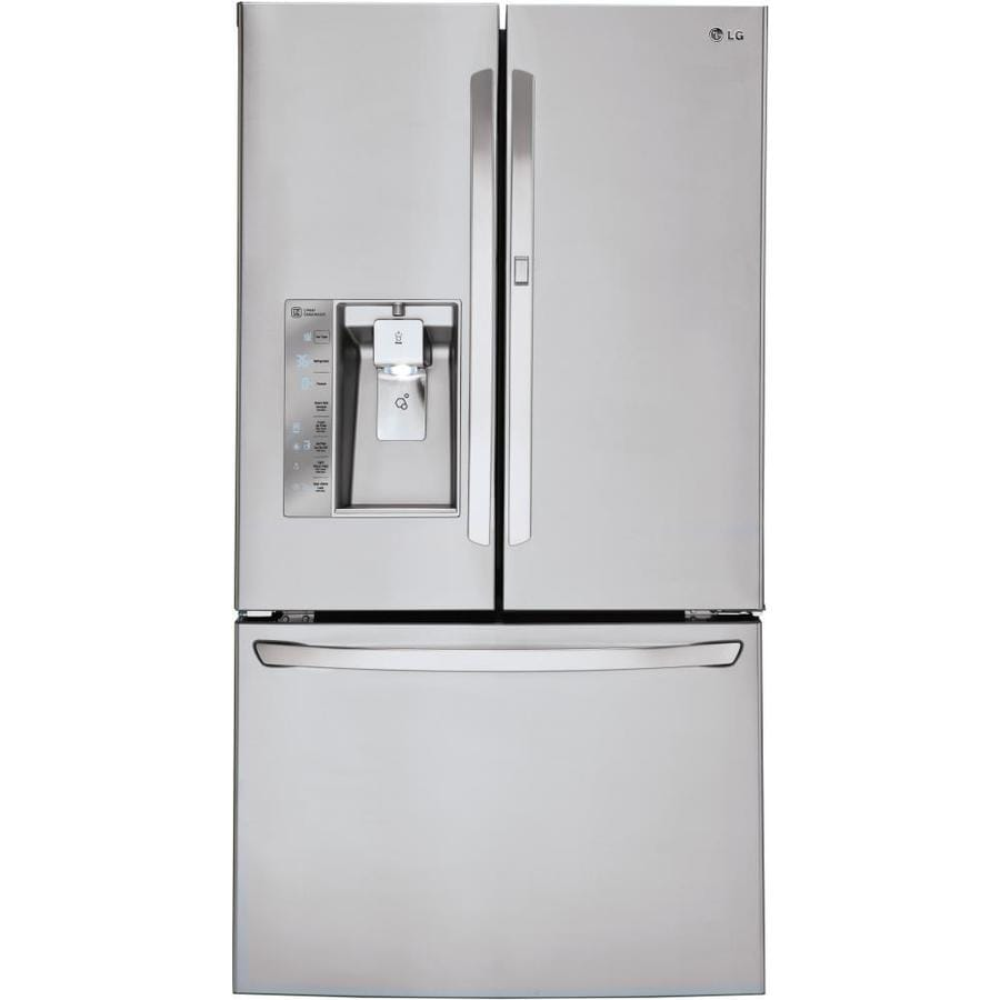 Shop lg 29 6 cu ft french door refrigerator with single for 6 ft wide french doors
