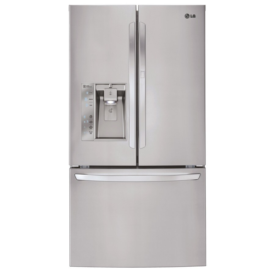 shop lg 28 6 cu ft french door refrigerator with dual ice. Black Bedroom Furniture Sets. Home Design Ideas