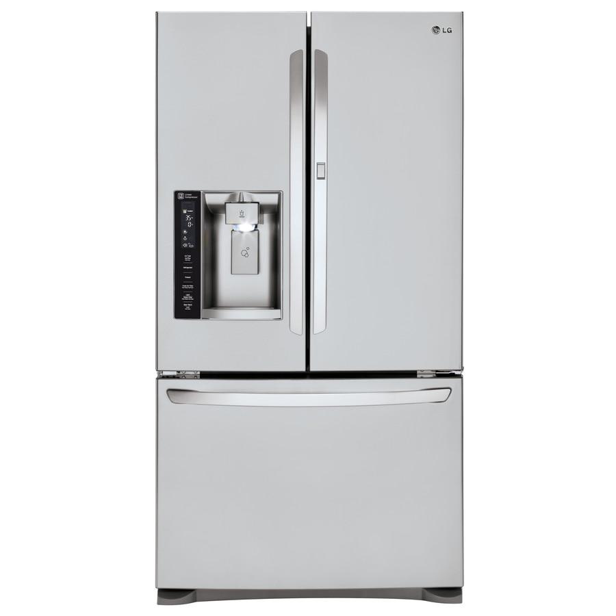 Shop Lg 26 6 Cu Ft 4 Door French Door Refrigerator With
