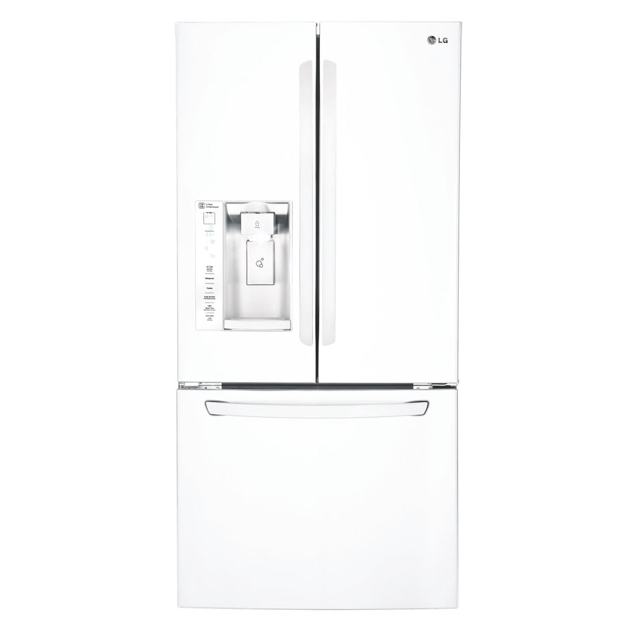 LG 24.2-cu ft French Door Refrigerator with Single Ice Maker (Smooth White) ENERGY STAR
