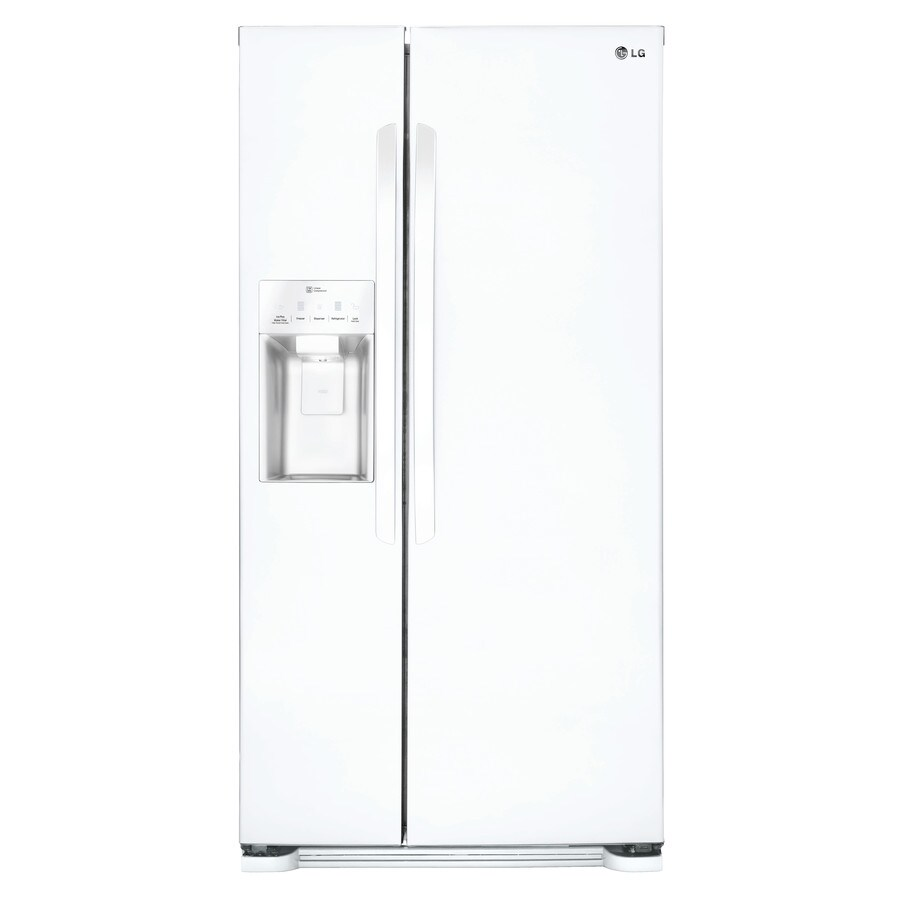 LG 22.1-cu ft Side-by-Side Refrigerator with Single Ice Maker (Smooth White) ENERGY STAR