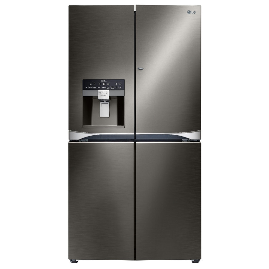 shop lg 29 8 cu ft 4 door french door refrigerator with single ice maker and door within door. Black Bedroom Furniture Sets. Home Design Ideas