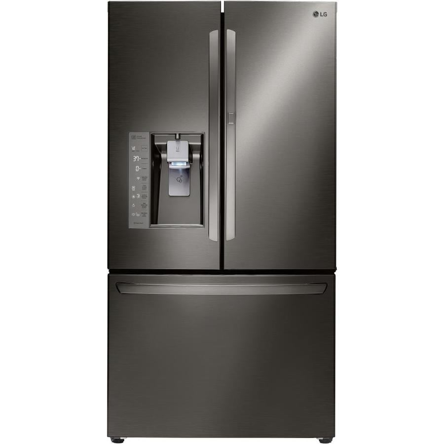 LG 29.6-cu ft French Door Refrigerator with Single Ice Maker and Door within Door (Black Stainless) ENERGY STAR