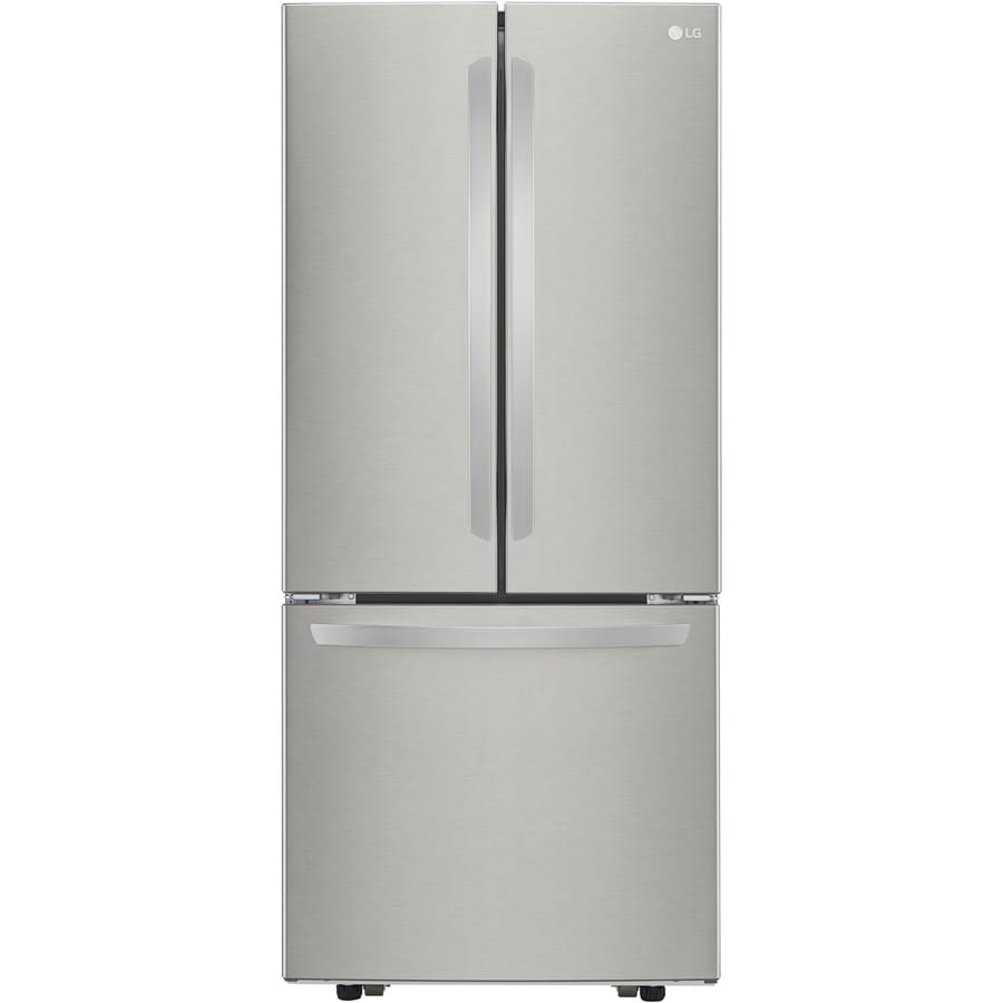 LG 21.8-cu ft French Door Refrigerator with Single Ice Maker (Stainless Steel) ENERGY STAR