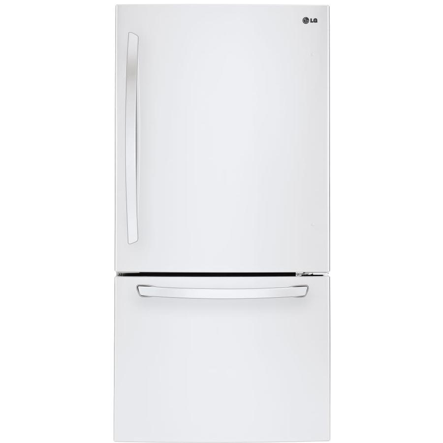 LG 24.1-cu ft Bottom-Freezer Refrigerator with Single Ice Maker (Smooth White) ENERGY STAR