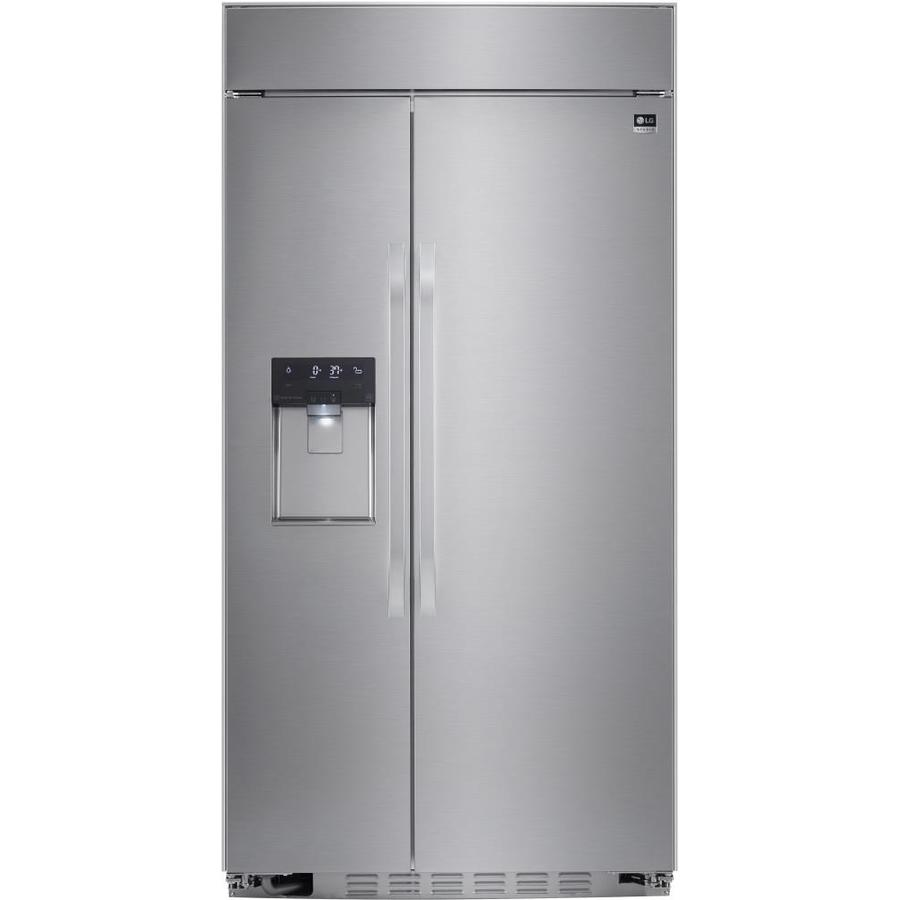 LG Studio 25.6-cu ft Built-in Side-by-Side Refrigerator with Single Ice Maker (Stainless Steel) ENERGY STAR