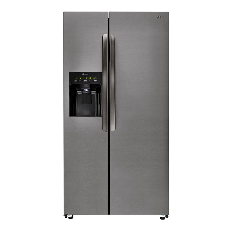 LG 26.2-cu ft Side-by-Side Refrigerator with Single Ice Maker (Dark Graphite)