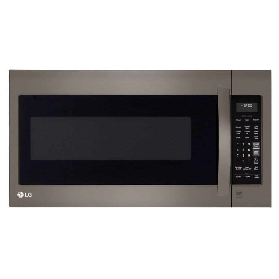 LG 2-cu ft Over-the-Range Microwave with Sensor Cooking Controls (Black Stainless Steel) (Common: 30-in; Actual: 29.9375-in)