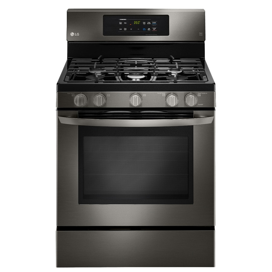 LG 5-Burner Freestanding Convection Gas Range (Black Stainless Steel) (Common: 30-in; Actual: 29.9375-in)