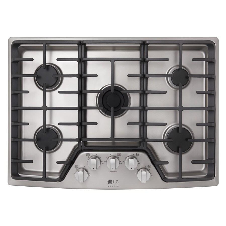 LG Studio 5-Burner Gas Cooktop (Stainless Steel) (Common: 30-in; Actual: 30-in)