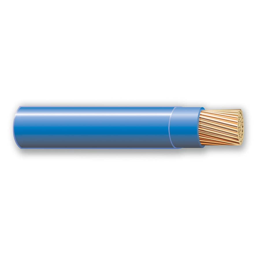 500-ft 10-AWG Stranded Blue THHN Wire (By-the-Roll)