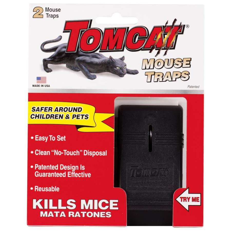 TOMCAT Mouse Snap Traps 2-Pack Indoor Rodent Trap for House Mice