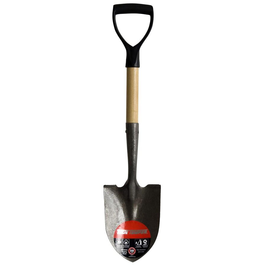 True Temper Short-Handle Wood Digging Shovel