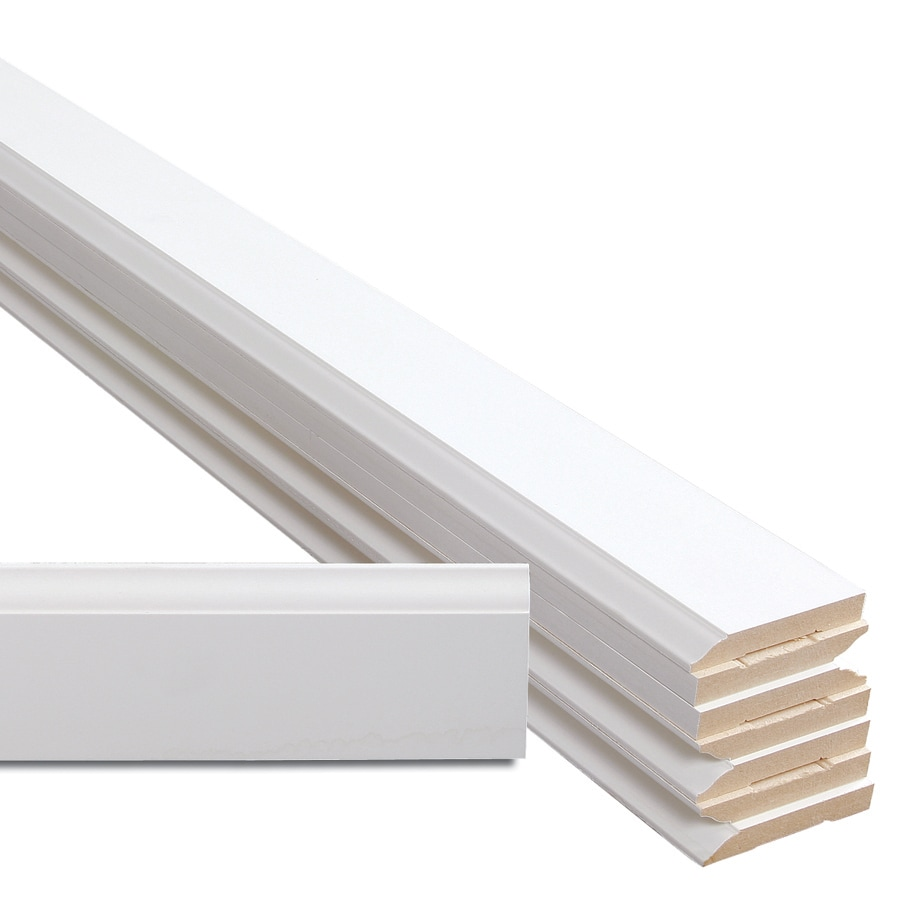8-Pack 3.25-in x 12-ft Interior MDF Baseboard