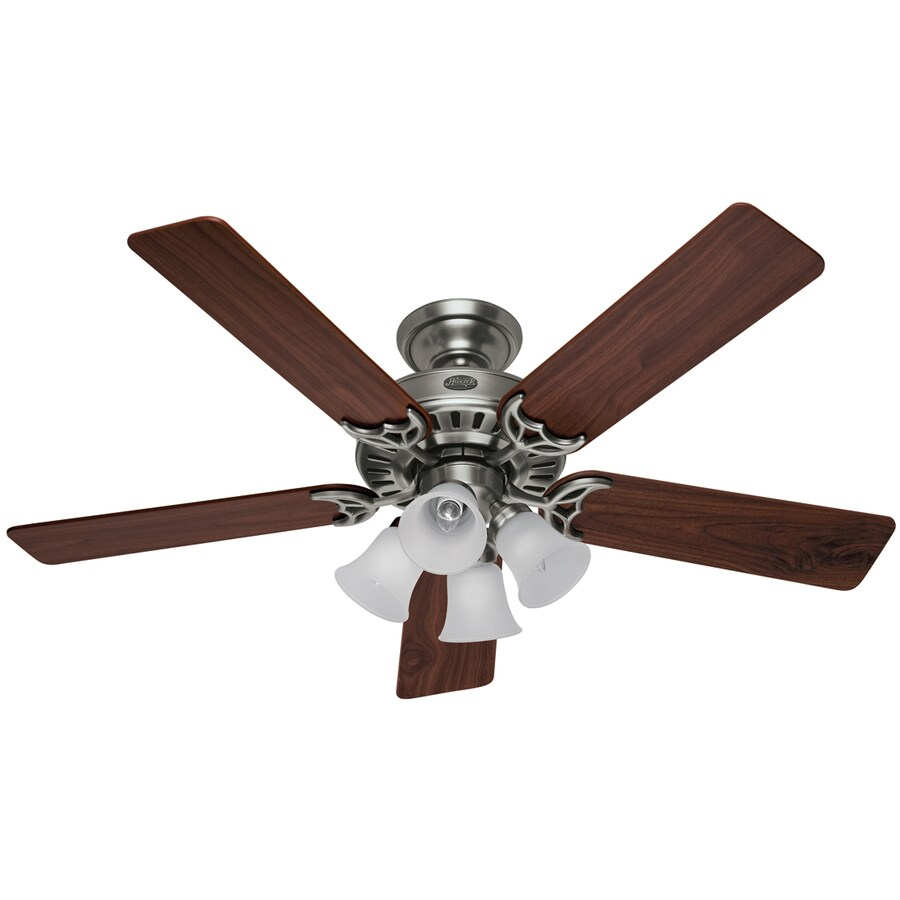 Hunter 52-in Studio Antique Pewter Ceiling Fan with Light Kit