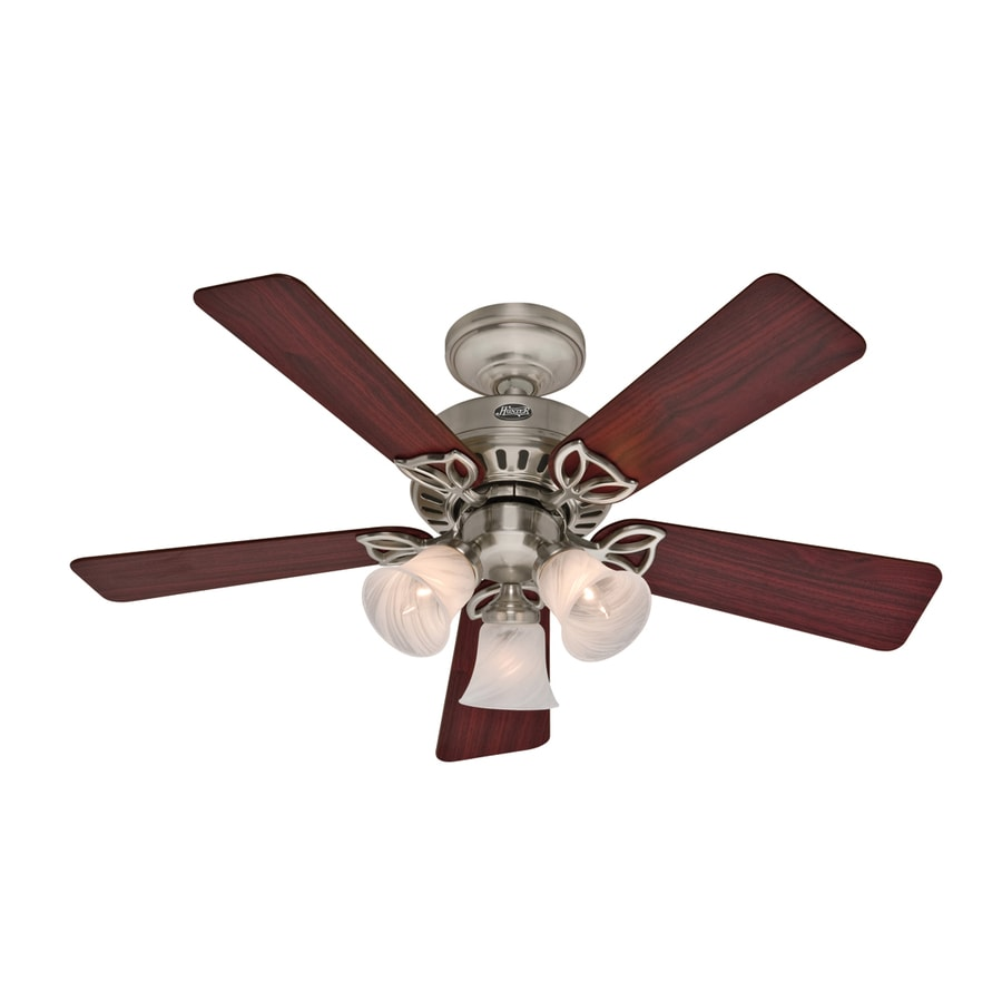Hunter 42-in The Beacon Hill Brushed Nickel Ceiling Fan with Light Kit