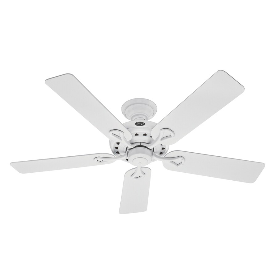 Hunter 52-in Savoy White Ceiling Fan ENERGY STAR