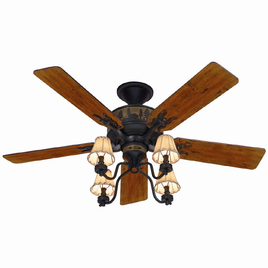 Hunter 52-in Multi-Position Indoor Ceiling Fan with Light Kit