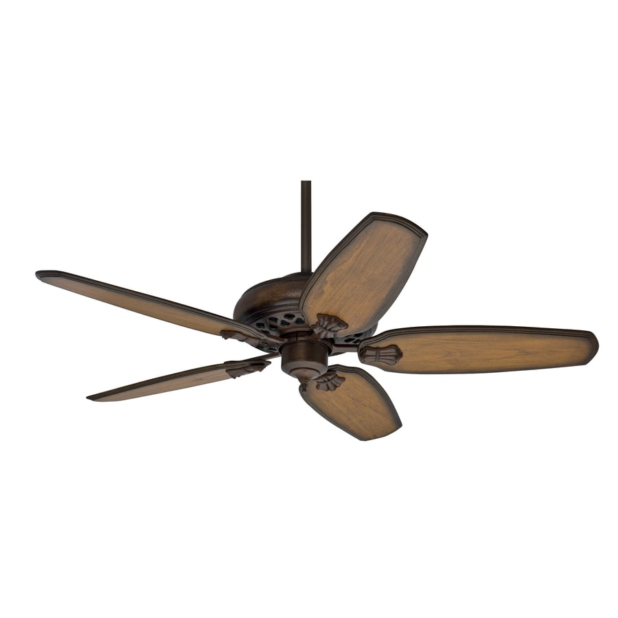 Prestige by Hunter Fellini 60-in Provence Crackle Downrod Mount Ceiling Fan with Remote Control