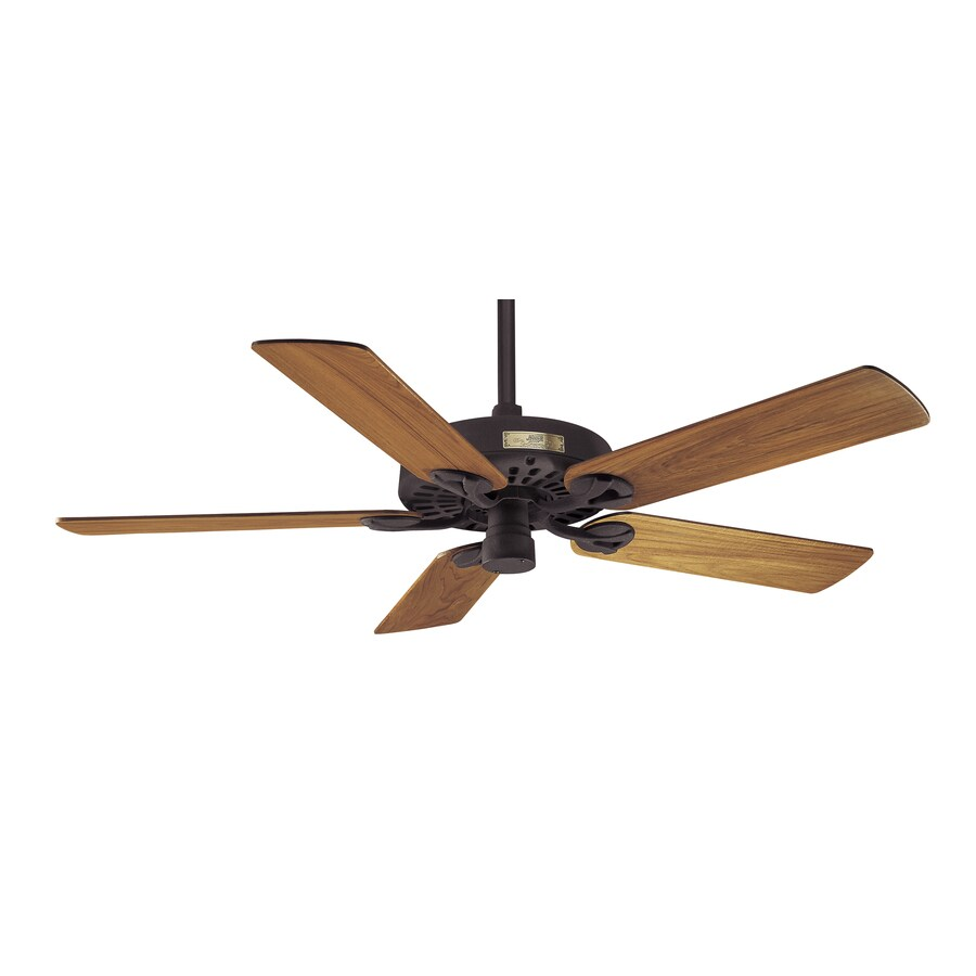 Hunter Outdoor Original 52-in New Bronze Outdoor Downrod Mount Ceiling Fan