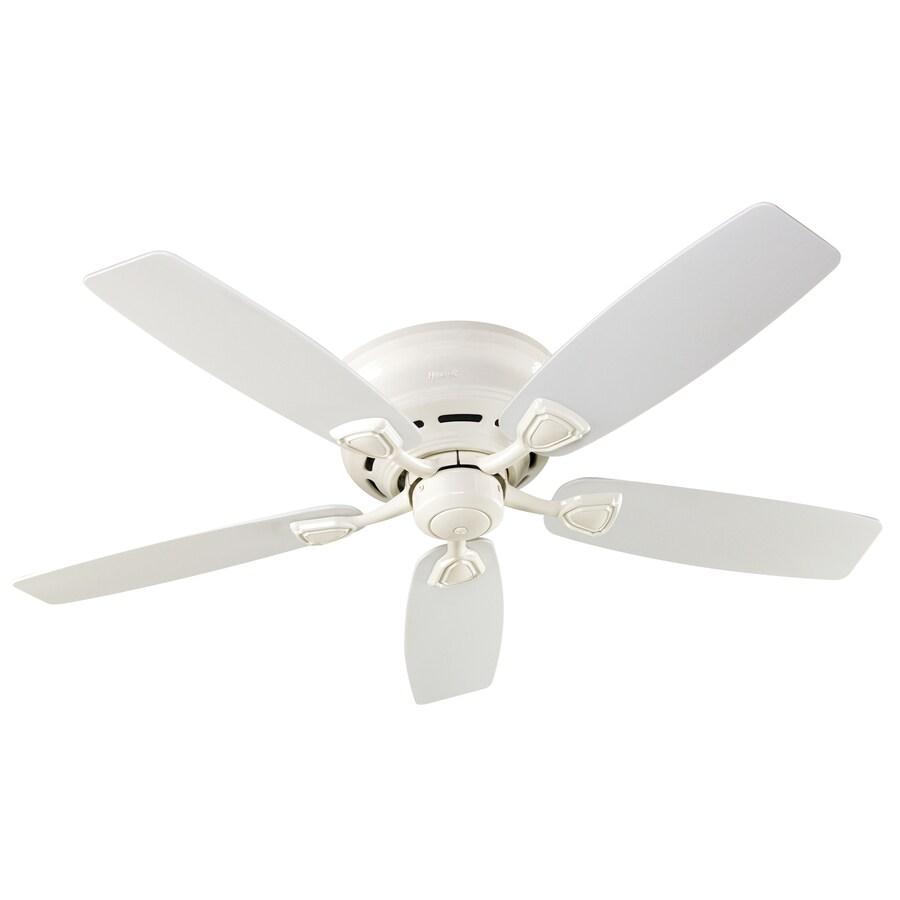 Hunter Sea Wind 48-in White Flush Mount Indoor/Outdoor Ceiling Fan