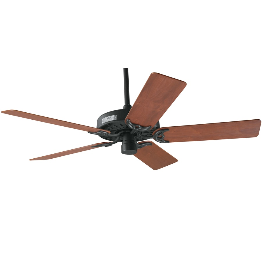 Prestige by Hunter Original 52-in Antique Black Downrod Mount Indoor Ceiling Fan ENERGY STAR