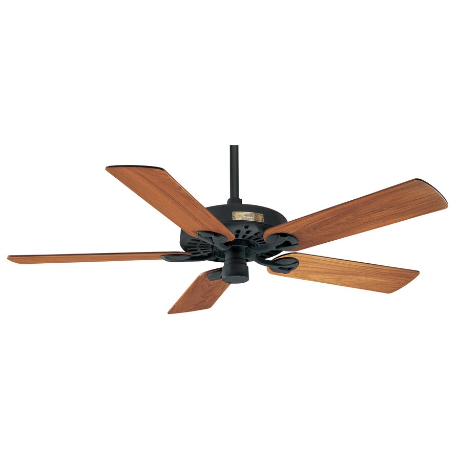 Prestige by Hunter Outdoor Original Textured Black Downrod Mount Ceiling Fan (No Blades)