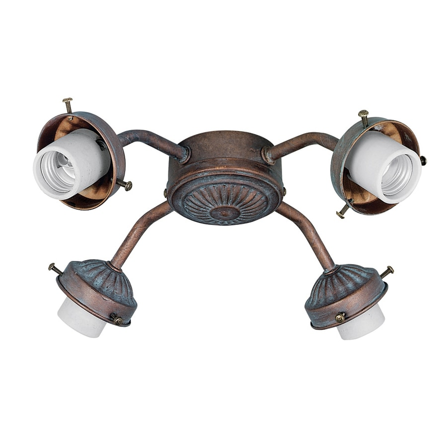 Hunter 4-Light Weathered Brick Ceiling Fan Light Kit with Glass Not Included Glass or Shade