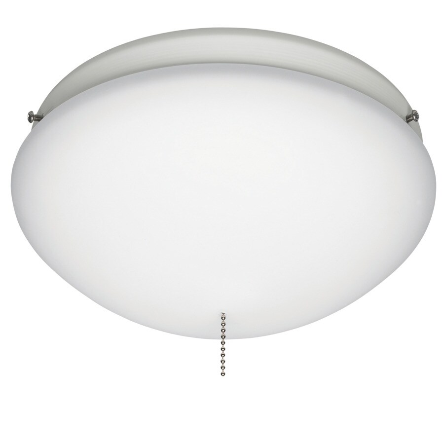 Hunter 2-Light White Ceiling Fan Light Kit with Opal Glass or Shade