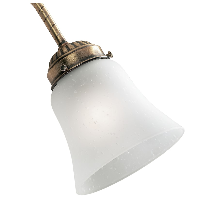 Hunter 4.625-in H 4.625-in W Frosted Seeded Seeded Glass Bell Ceiling Fan Light Shade