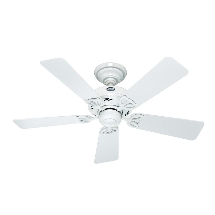 Hunter 42-in Hudson White Ceiling Fan
