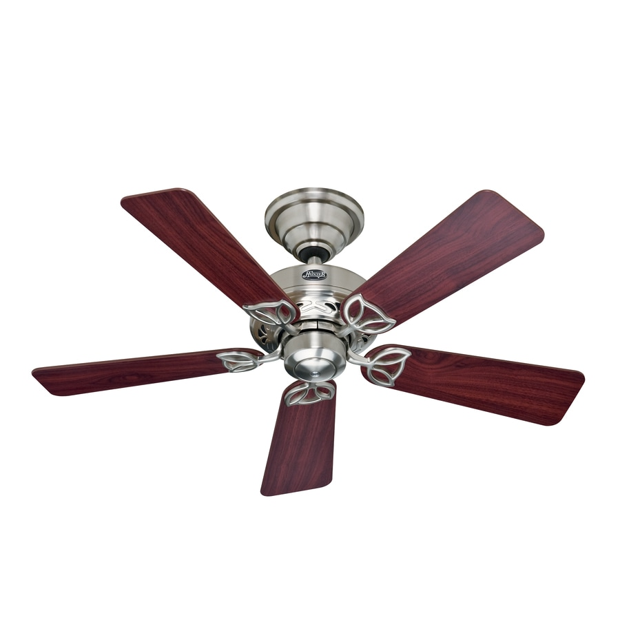 Hunter 42-in Hudson Brushed Nickel Ceiling Fan