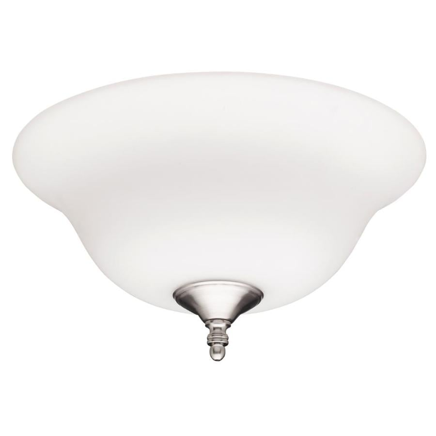 Hunter 2-Light White and Brushed Nickel Fluorescent Ceiling Fan Light Kit with Frosted Glass