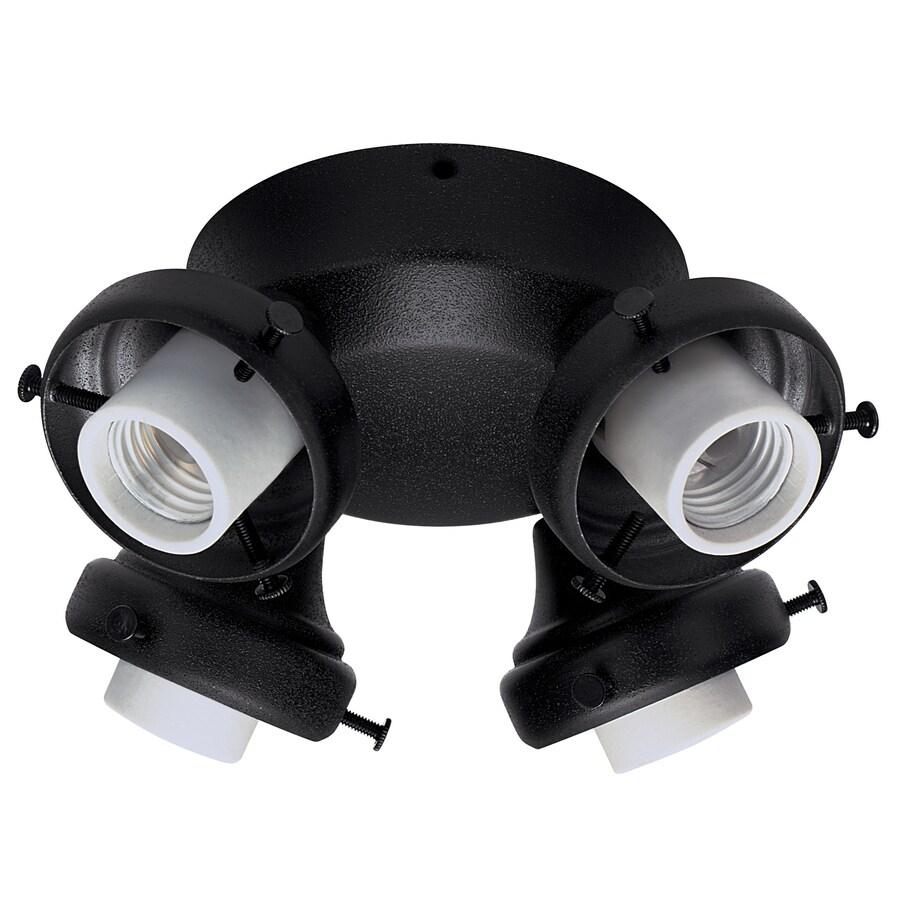 Hunter 4-Light Antique Black Ceiling Fan Light Kit