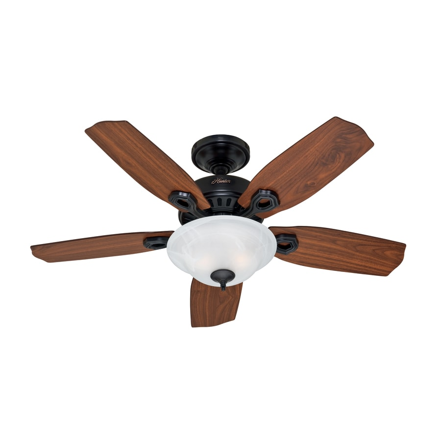 Hunter 44-in Auberville Black Ceiling Fan with Light Kit