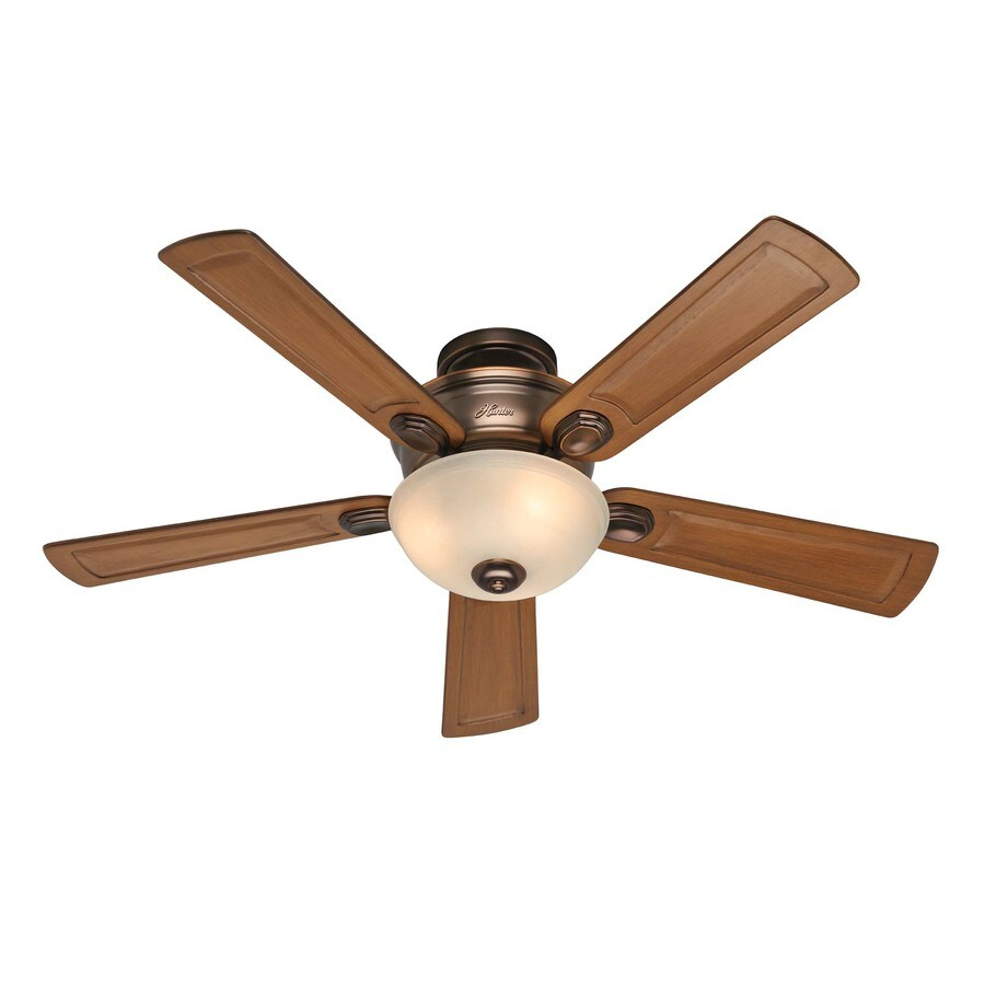 Hunter Princeton 52-in Bronze Patina Multi-Position Ceiling Fan with Light Kit