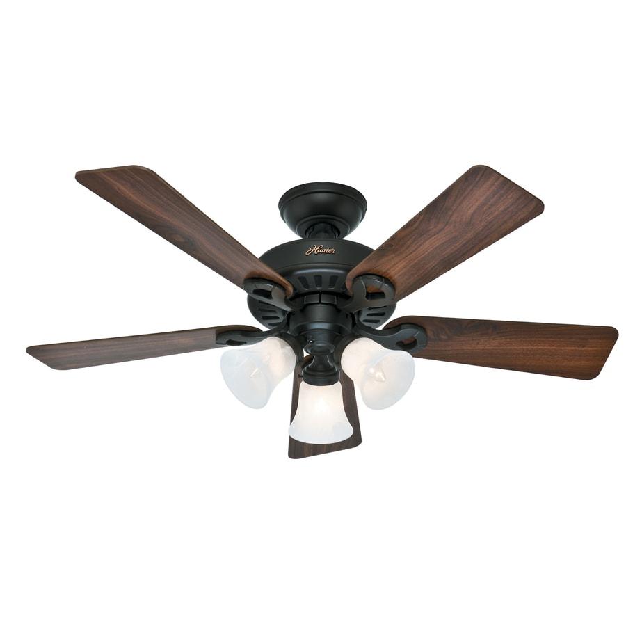 Hunter Ridgefield 5 Minute Fan 44-in New Bronze Downrod or Close Mount Indoor Ceiling Fan with Light Kit