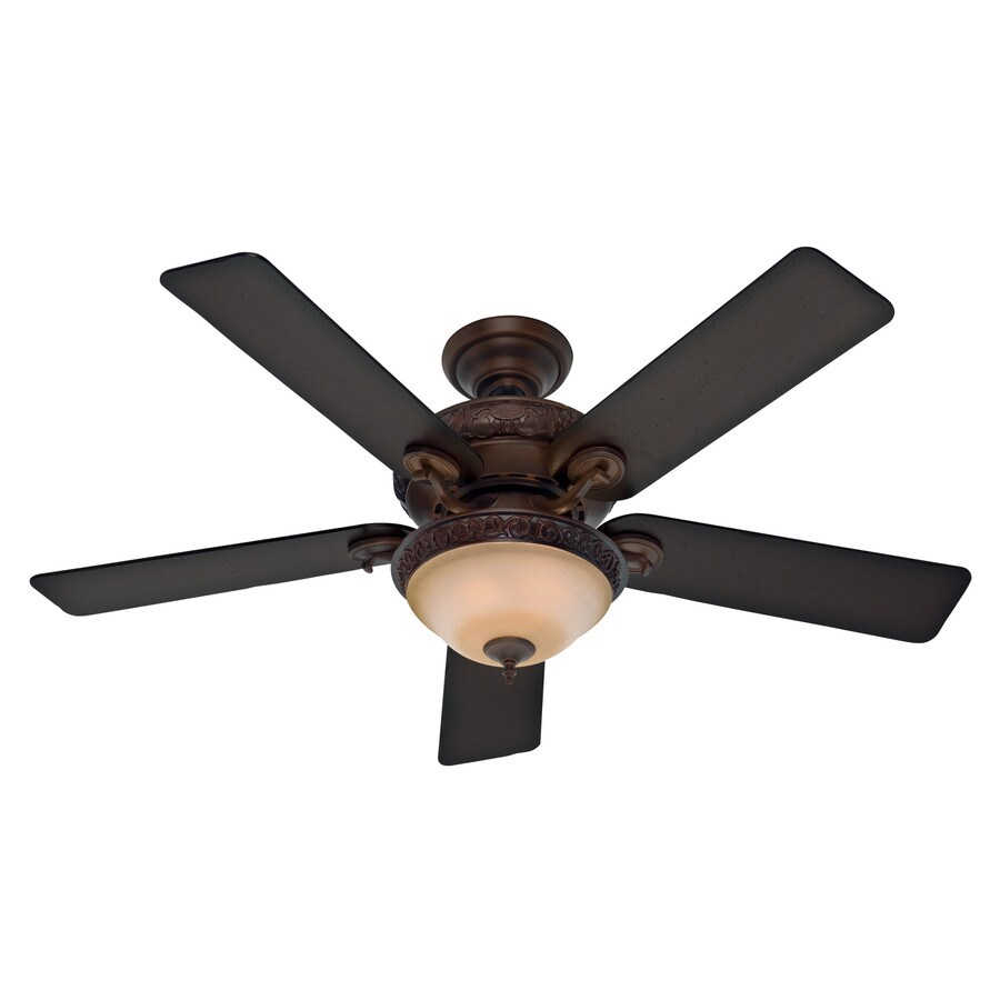 Hunter Vernazza 52-in Brushed Cocoa Downrod or Close Mount Indoor Ceiling Fan with Light Kit