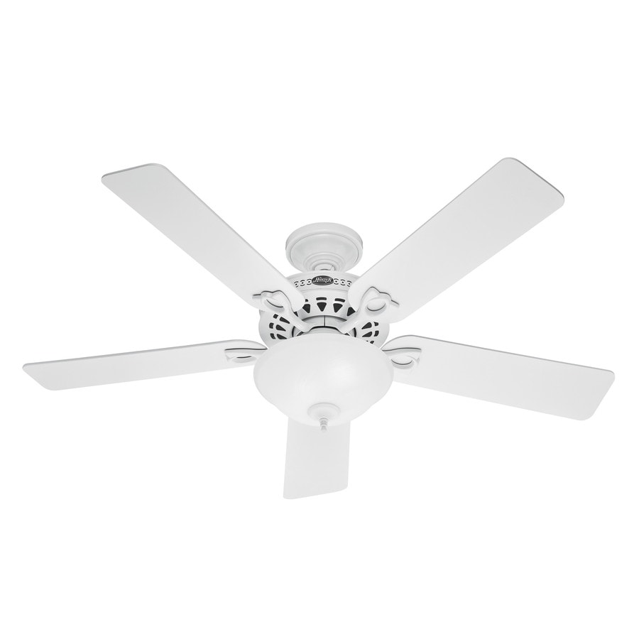 Hunter The Astoria 52-in White Downrod or Close Mount Indoor Ceiling Fan with Light Kit