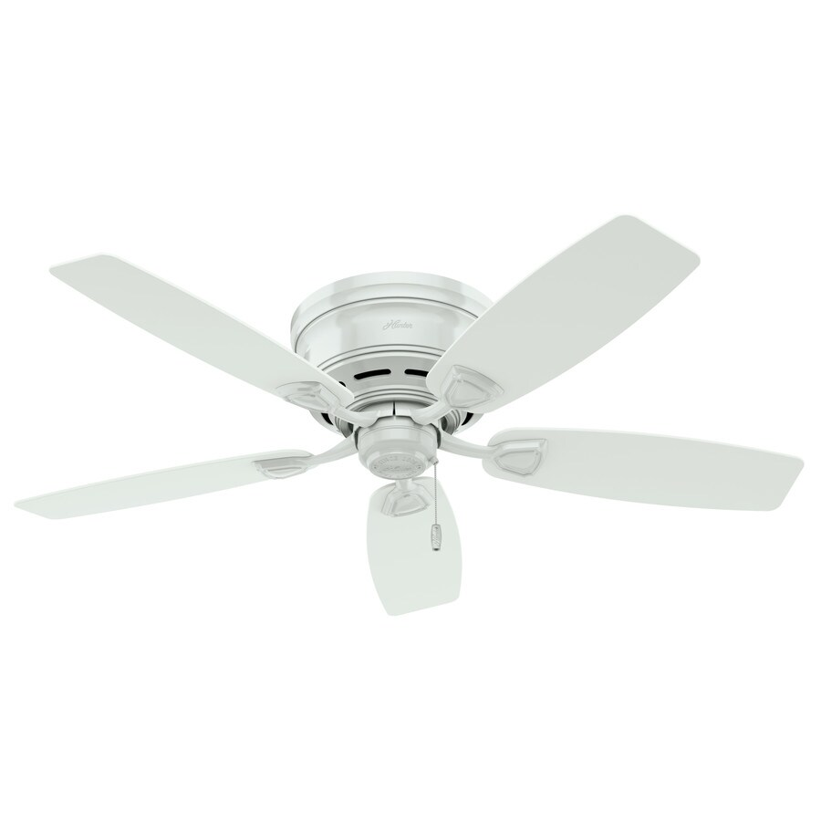 Hunter Sea Wind 48-in White Flush Mount Indoor/Outdoor Residential Ceiling Fan