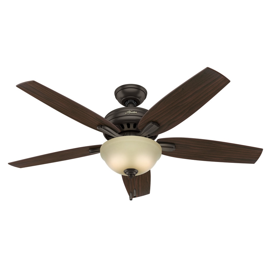 Hunter Newsome 52-in Premier Bronze Downrod or Close Mount Indoor Ceiling Fan with Light Kit