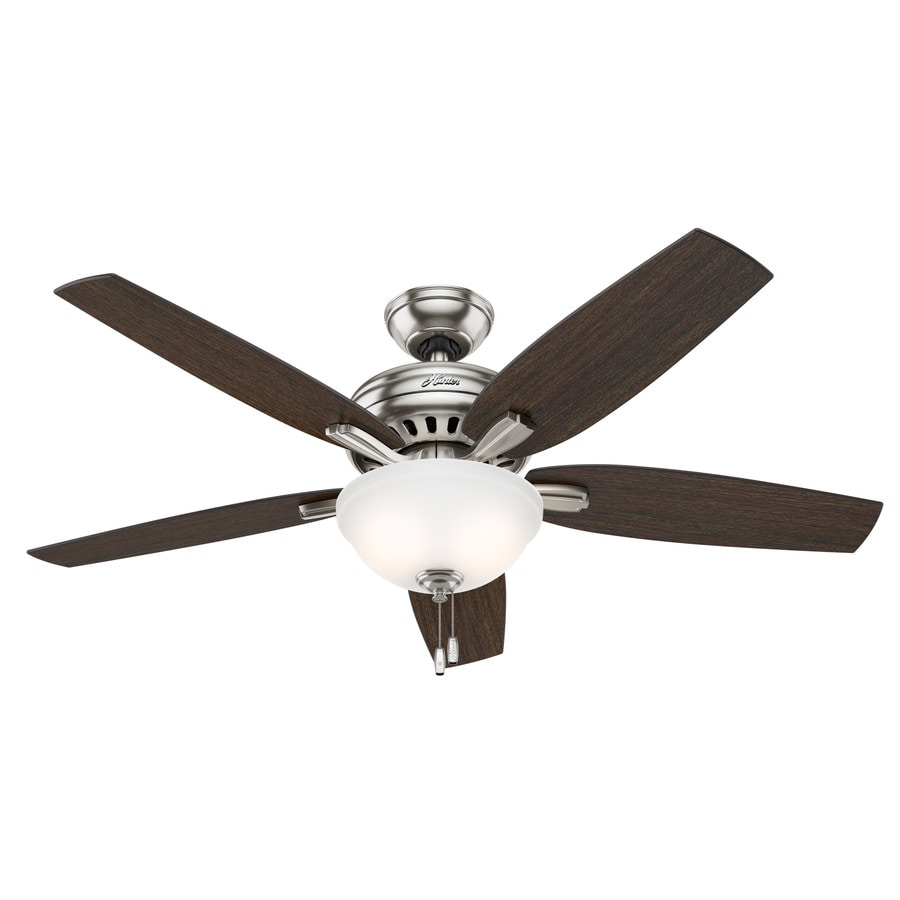 downrod or close mount indoor ceiling fan with light kit at
