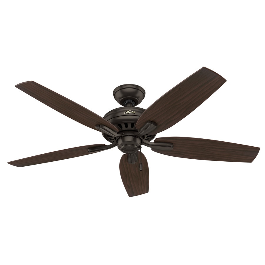 Hunter Newsome 52-in Premier Bronze Downrod or Close Mount Indoor Ceiling Fan
