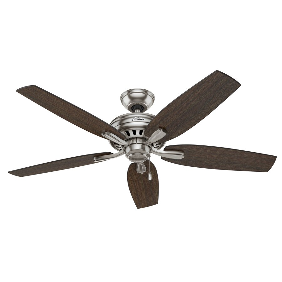 Hunter Newsome 52-in Brushed Nickel Downrod or Close Mount Indoor Ceiling Fan