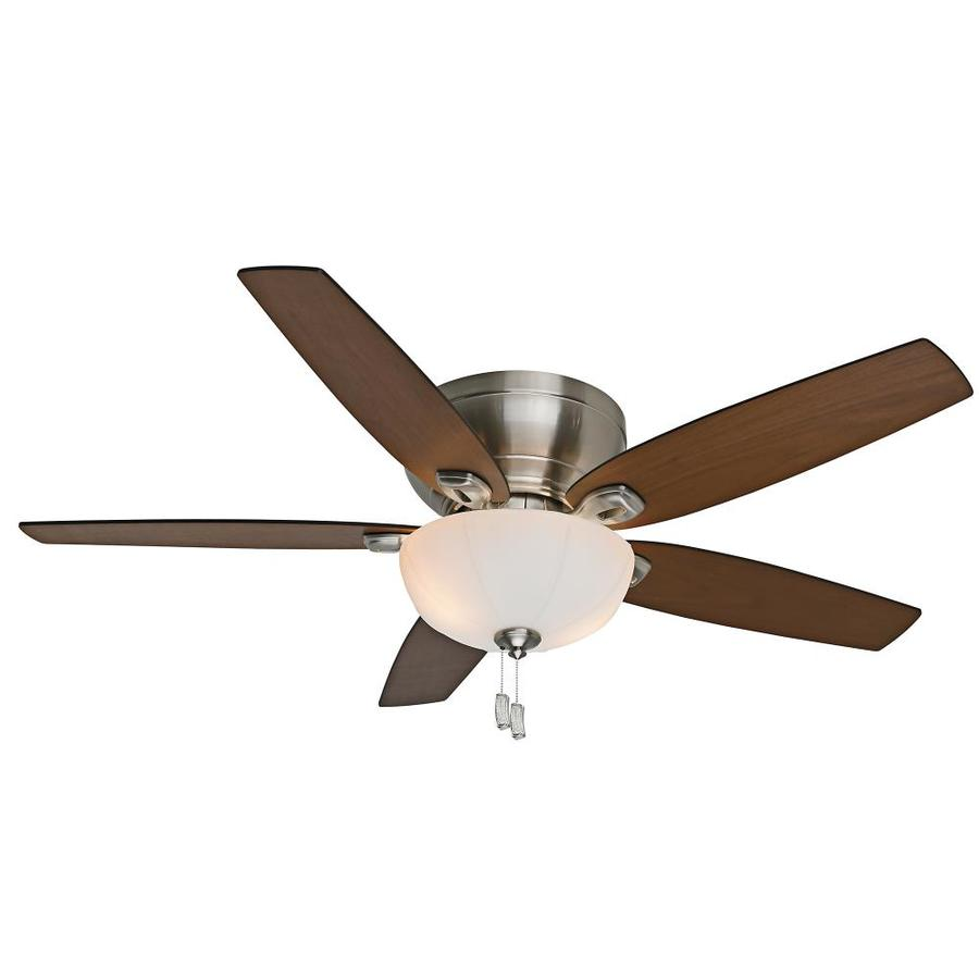 Shop Casablanca Durant 54-in Brushed Nickel Flush Mount Indoor Residential Ceiling Fan with ...